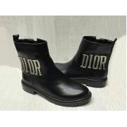 Полусапоги женские Christian Dior (Кристиан Диор) кожаные Black