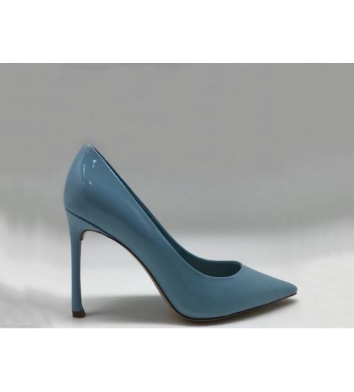 Женские туфли Christian Dior (Кристиан Диор) кожаные Blue