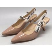 Женские туфли Christian Dior (Кристиан Диор) кожаные лаковые Black