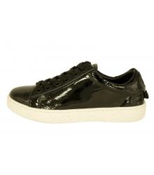 Женские кроссовки Christian Dior (Кристиан Диор) кожаные лаковые Black