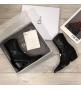 Женские ботильоны Christian Dior (Кристиан Диор) LA кожаные каблук скошенный со звездой Black
