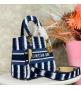 Женская сумка Christian Dior (Кристиан Диор) Lady D-Lite c традиционным узором Cannage Blue