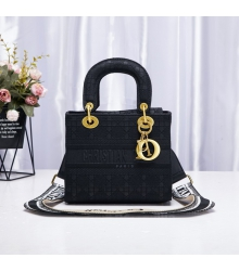 Женская сумка Christian Dior (Кристиан Диор) Lady D-Lite текстиль Back