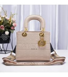 Женская сумка Christian Dior (Кристиан Диор) Lady D-Lite текстиль Beige