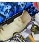 Женская сумка Christian Dior (Кристиан Диор) Lady D-Lite текстиль Blue