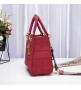 Женская сумка Christian Dior (Кристиан Диор) Lady D-Lite текстиль Red