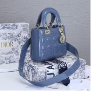 Женская сумка Christian Dior (Кристиан Диор) Lady Dior My ABCDior кожаная Blue