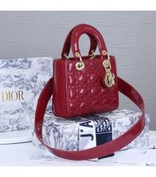 Женская сумка Christian Dior (Кристиан Диор) Lady Dior My ABCDior кожаная Red
