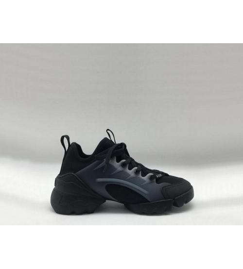 Женские кроссовки Christian Dior (Кристиан Диор) летние на шнурках Black