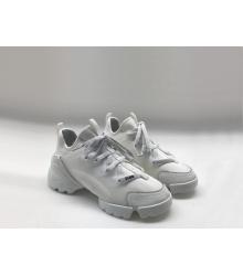 Женские кроссовки Christian Dior (Кристиан Диор) летние на шнурках White