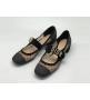 Женские туфли Christian Dior (Кристиан Диор) летние на среднем каблуке Black