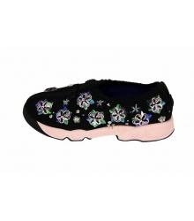 Женские кроссовки Christian Dior (Кристиан Диор) Low Black\Pink