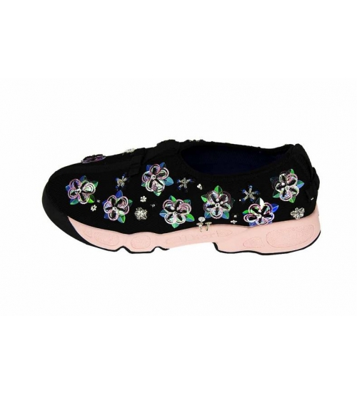 Женские кроссовки Christian Dior (Кристиан Диор) Low Black Pink - 15 ... 5c3f48cd06c
