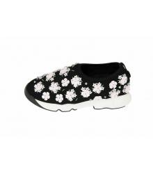 Женские кроссовки Christian Dior (Кристиан Диор) Low Black\White