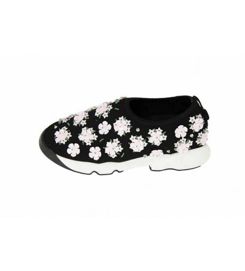 Женские кроссовки Christian Dior (Кристиан Диор) Low Black White ... d64c76441cc