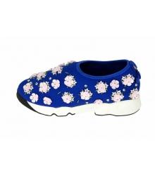 Женские кроссовки Christian Dior (Кристиан Диор) Low Blue\Pink