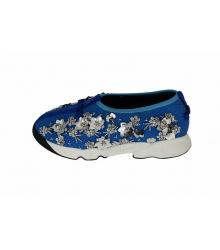 Женские кроссовки Christian Dior (Кристиан Диор) Low Blue