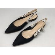 Женские туфли Christian Dior (Кристиан Диор) на низком каблуке Black