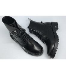 Ботинки женские Christian Dior (Кристиан Диор) осенние High Black