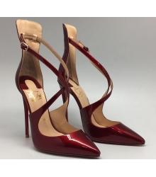 Женские лаковые туфли Christian Louboutin (Кристиан Лабутен) Bordo