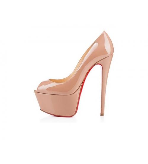 Женские туфли Christian Louboutin (Кристиан Лабутен) кожаные Beige