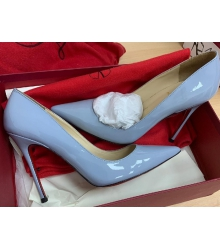Женские туфли Christian Louboutin (Кристиан Лабутен) кожаные каблук высокий шпилька Blue