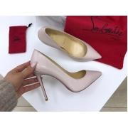 Женские туфли Christian Louboutin (Кристиан Лабутен) кожаные каблук высокий шпилька Gray