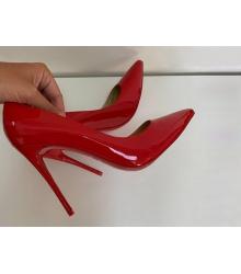 Женские туфли Christian Louboutin (Кристиан Лабутен) кожаные каблук высокий шпилька Red