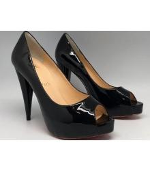 Женские туфли Christian Louboutin (Кристиан Лабутен) лаковые Black