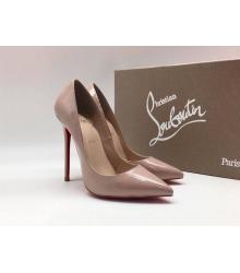 Женские туфли Christian Louboutin (Кристиан Лабутен) летние кожа каблук шпилька Beige