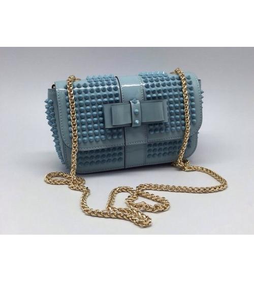 Женская сумка Christian Louboutin (Кристиан Лабутен) Light Blue