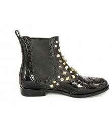Женские сапоги Dolce&Gabbana (Дольче Габбана) Black/Silver