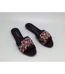 Шлепанцы женские Dolce&Gabbana (Дольче Габбана) Black