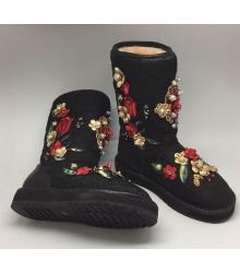 Угги женские Dolce&Gabbana (Дольче Габбана) Black