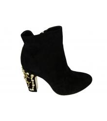 Ботильоны женские Dolce&Gabbana (Дольче Габбана) Black Velvet