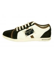 Кроссовки Dolce&Gabbana (Дольче Габбана) брендовые New Black White