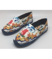Женские эспадрильи Dolce & Gabbana (Дольче Габбана) цветные с узорами