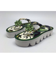 Шлепанцы Dolce&Gabbana (Дольче Габбана) Green
