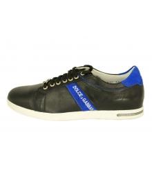 Кроссовки Dolce&Gabbana (Дольче Габбана) кожаные New Black