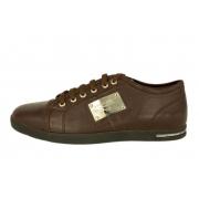 Кроссовки Dolce&Gabbana (Дольче Габбана) кожаные New Brown