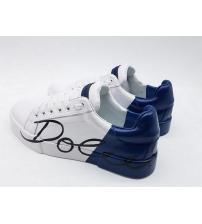 Женские кроссовки Dolce&Gabbana (Дольче Габбана) логотип White/Blue