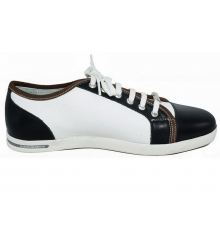 Кроссовки Dolce&Gabbana (Дольче Габбана) Low Black\White New