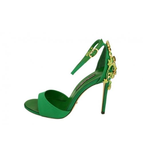 Женские босоножки Dolce&Gabbana (Дольче Габбана) на каблуке Green