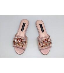 Шлепанцы женские Dolce&Gabbana (Дольче Габбана) Pink