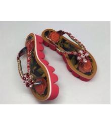 Женские шлепанцы Dolce&Gabbana (Дольче Габбана) Red