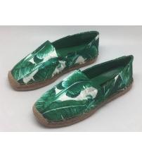 Женские эспадрильи Dolce & Gabbana (Дольче Габбана) с узорами Green