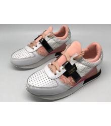 Женские кроссовки Dolce&Gabbana (Дольче Габбана) White/Pink