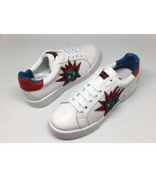 Женские кроссовки Dolce&Gabbana (Дольче Габбана) White/Red/Green