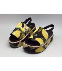 Женские босоножки Dolce&Gabbana (Дольче Габбана) Yellow/Black