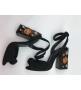 Босоножки женские Dolce&Gabbana (Дольче Габбана) замшевые с заклепками Black